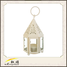 Beige Mini Hampi Hurricane Garden Lantern Candle Holder For Wedding Christmas Decor