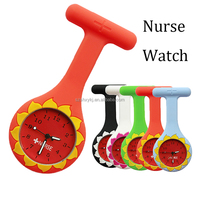 Orange Silicone Nurse Watch With Nurse Pin Gift For Nurse