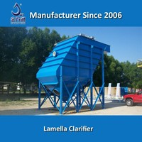 High rate lamella plate clarifier for industrial wastewater treatment