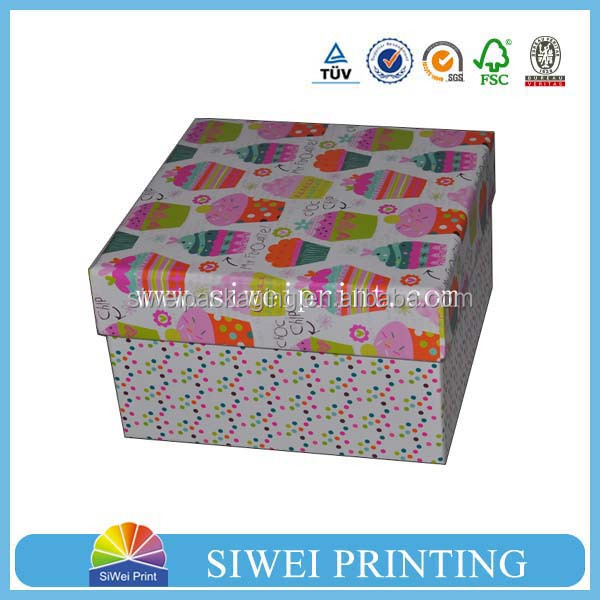 2015 custom luxury colorful foldable cardboard box in packaging boxes