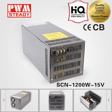 China Power Suppliers SCN-1200-15 single output ac dc 15v 80a 1200w led switching power supply 1200w smps with Parallel Function