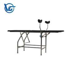 Portable stainless steel folding gynecological examination table