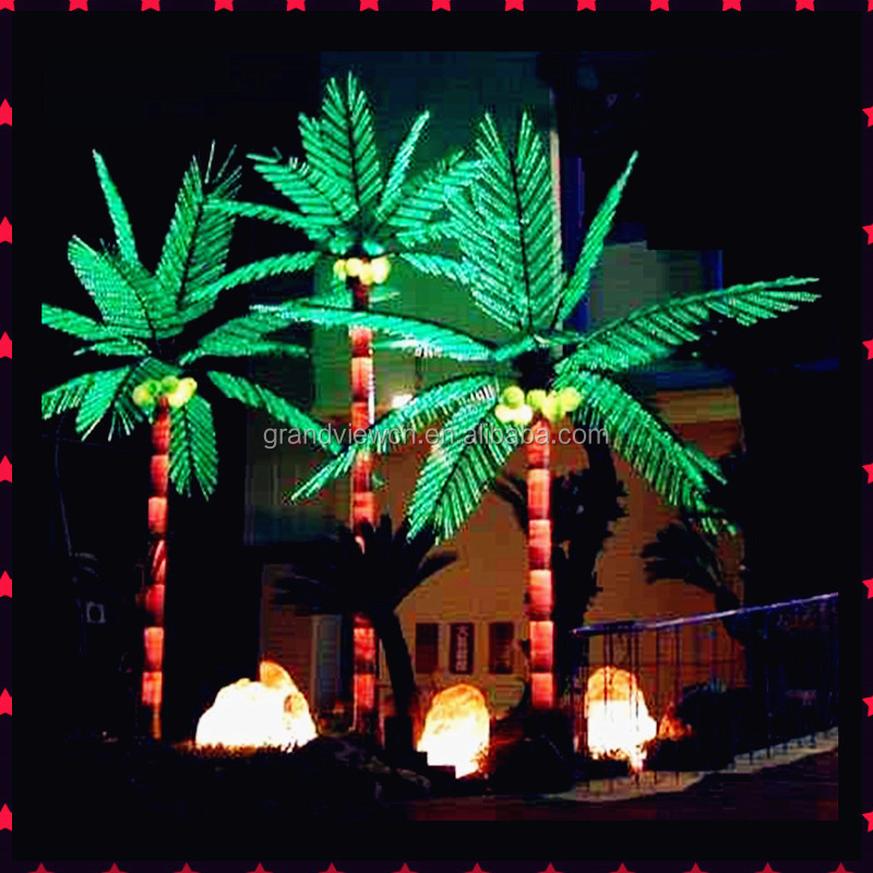 Led outdoor palm tree light for street decoration and new for Decoration exterieur led