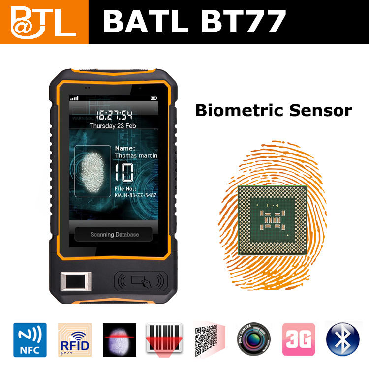 THM0817 BATL BT77 no brand 7inch IP65 biometric scanner mobile fingerprint tablets 7 use for rfid solutions