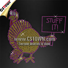 Funny turkey pattern thanksgiving iron on transfers