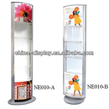 NE009 acrylic crystal free table floor standing light sign display