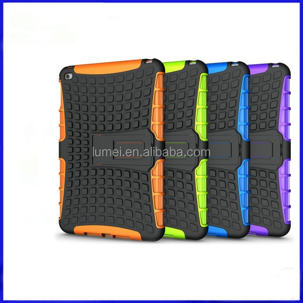 Popular Style Rugged Heavy Duty Shockproof Cell Phone Case For iPad Mini 4 Case