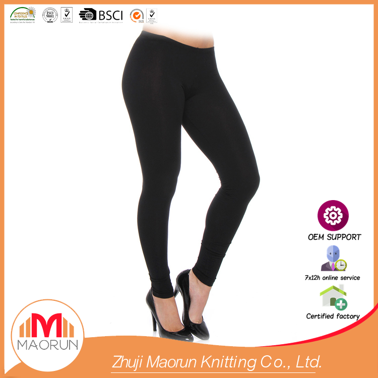 MAORUN-61322 leggings 95% cotton 5% spandex black