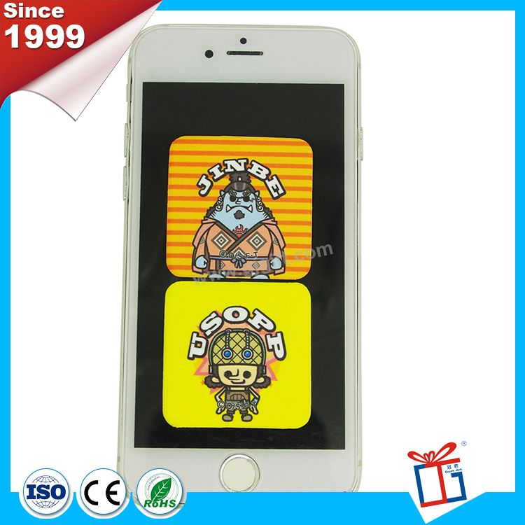 Cheap nice custom custom sticker hand phone screen cleaner