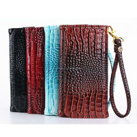 2015 new fashion alligator wallet leather cover case for iphone 5se