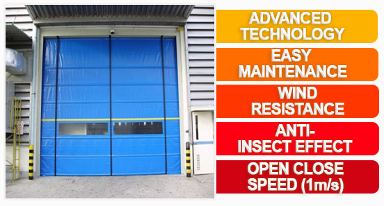 PVC Roll up door Shutter High Speed Automatic