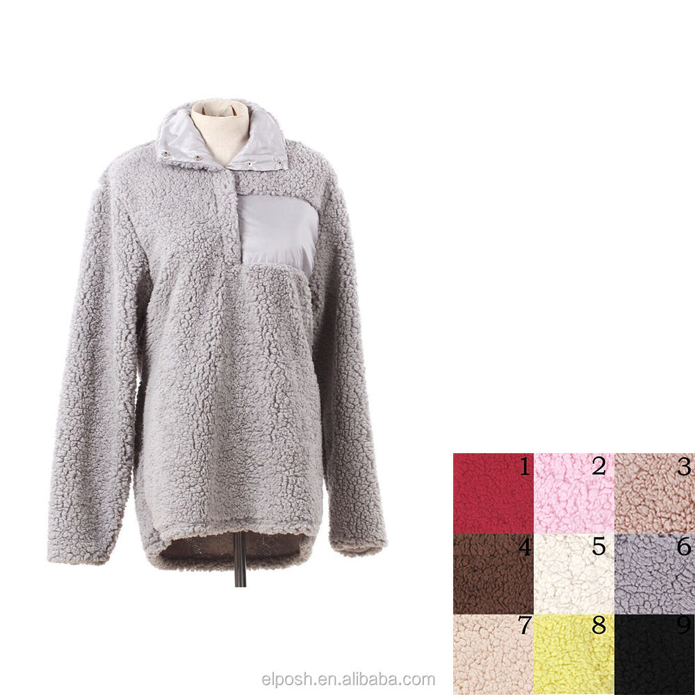 Lady Comfy Soft Sherpa Pullover Jacket