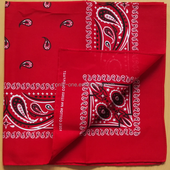 Hot Sale New Design Customized Square Handkerchief 100% Cotton Multi-Purpose Bandana