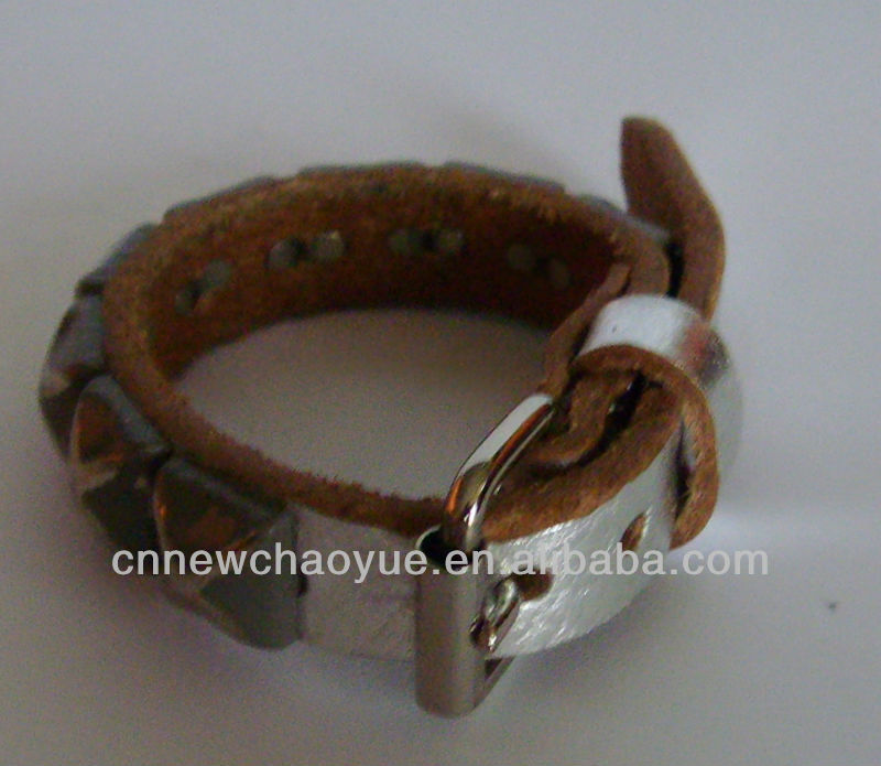 Fashion handmade real leather wristbands & leather bracelet