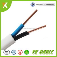 solid type 220v flat wire power cable 1.5mm electric flat cable