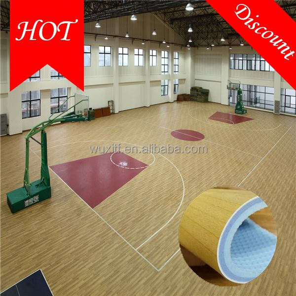 Temperature resistance health pvc flooring for basketball
