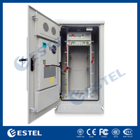 "ET9090170 19"" Electric Equipment Outdoor Cabinet / IP55 Galvanized Steel 19 Inch Rack Enclosure With Air Conditioner"