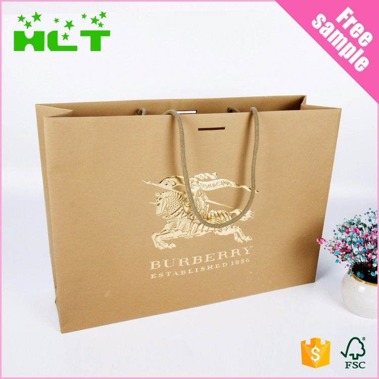 Lovely Christmas Kraft Paper Bag for Shopping