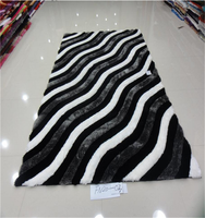 Top Quality 3d popular design polyester shaggy carpet