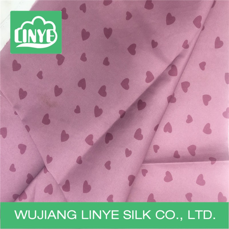 transfer printing fabric / love pattern tablecloth material