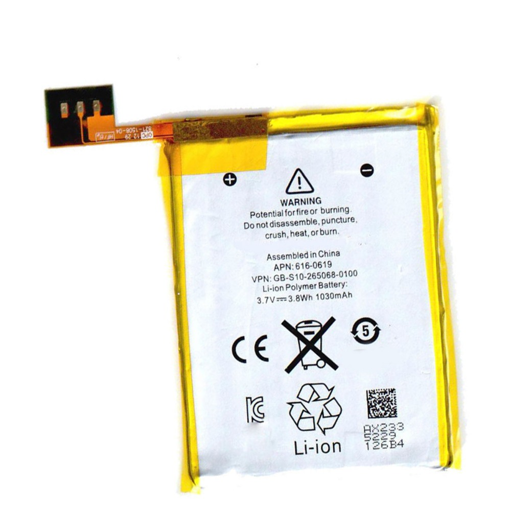 3.7V 1030mAh Li-ion Internal Battery Replacement for iPod Touch 5 5th Gen