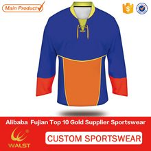 Custom sublimated sublimated ice hockey wear custom half and half jerseys with your logo