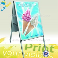 Portable outdoor sidewalk sign a board poster stand manufacturer
