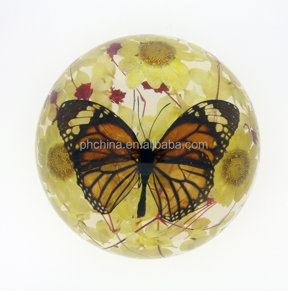 PP-038 Crystal Real butterfly Desktop Decoration Acrylic Insect Paperweight