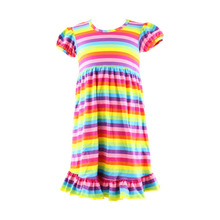 baby girl summer dress new fashion childrens clothing rainbow colorful casual dress