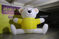 Factory direct sale yellow inflatable bear with led