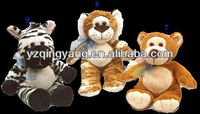 "plush toy manufacturer stuffed animals Leopard Siberian Tiger Zebra 10"" baby toy"