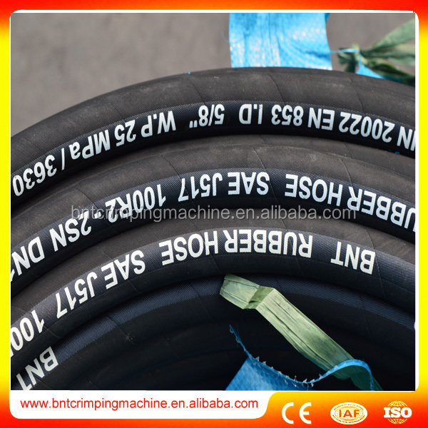 wholesale certificated flexible steel wire reinforced hyd rubber hose