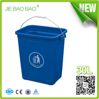 Lift Handle waste box green dustbin plastic hdpe pp garbage containers indoor hotel bathroom trash 30 l