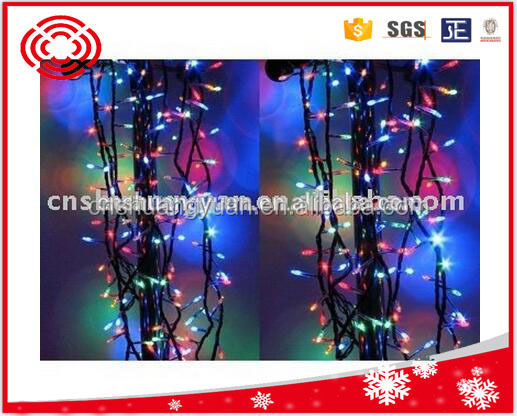 colorful led fairy christmas light chain , christmas tree decoration