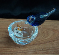 Handcrafted Cut Blue Glass Birds figurine MH-D0416