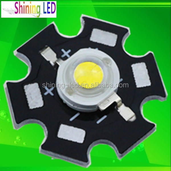 Bridgelux Chip 3W 1W High Power LED with Star Aluminum Heat Sink PCB