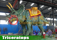 Huge Size Outdoor Simulation Dinosaur Customized Animartronic Triceratops