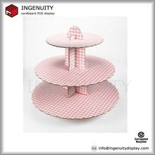 2 tier pink lace cardboard paper cupcake stand