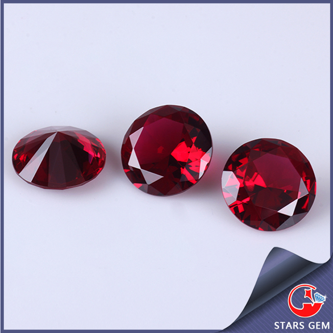 blood red 5# ruby synthetic corundum lab created red diamond