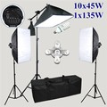 5 lamp socket softbox lighting kit photo studio muslin backdrops photography kit