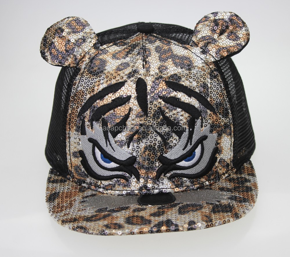 Custom 5/6 Panels Animals Trucker Cap Mesh Hat Snapback Hat