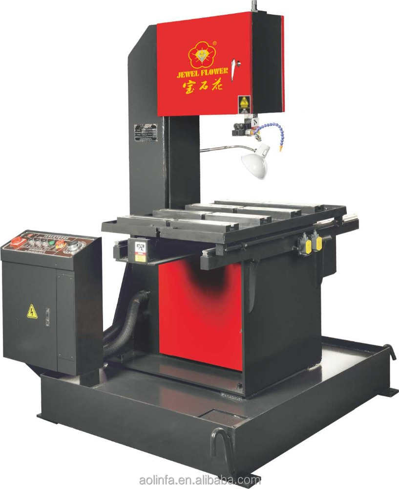 Vertical metal band saw machine