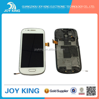 2016 New sell Black / White Display Digitizer LCD Touch Screen for samsung galaxy s3 mini i8190 lcd