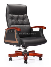 Foshan Modern Office Furniture Genuine Leather Cover Chair A9002