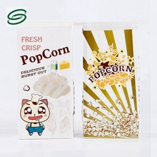 custom Waterproof extra large paper popcorn stand up bags pouches with tin tie