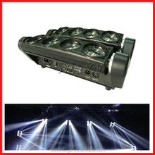 WLED 1-14 New 8 pcs 4 IN 1 RGBW (WHITE) 10W LED spider moving head led linear wall washer light