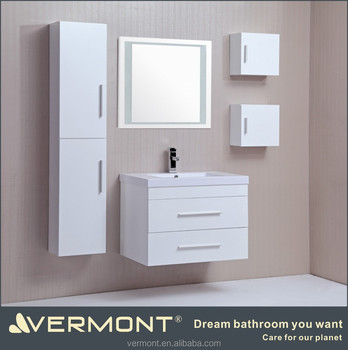 The white combo bathroom vanity