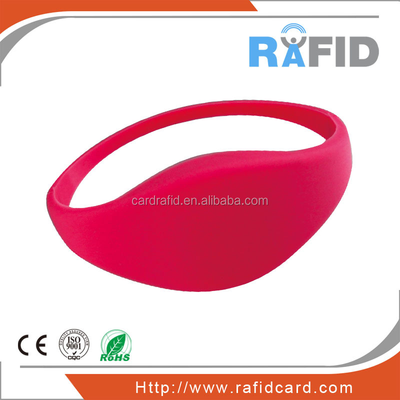 waterproof silicone rfid bracelet for smart packing system