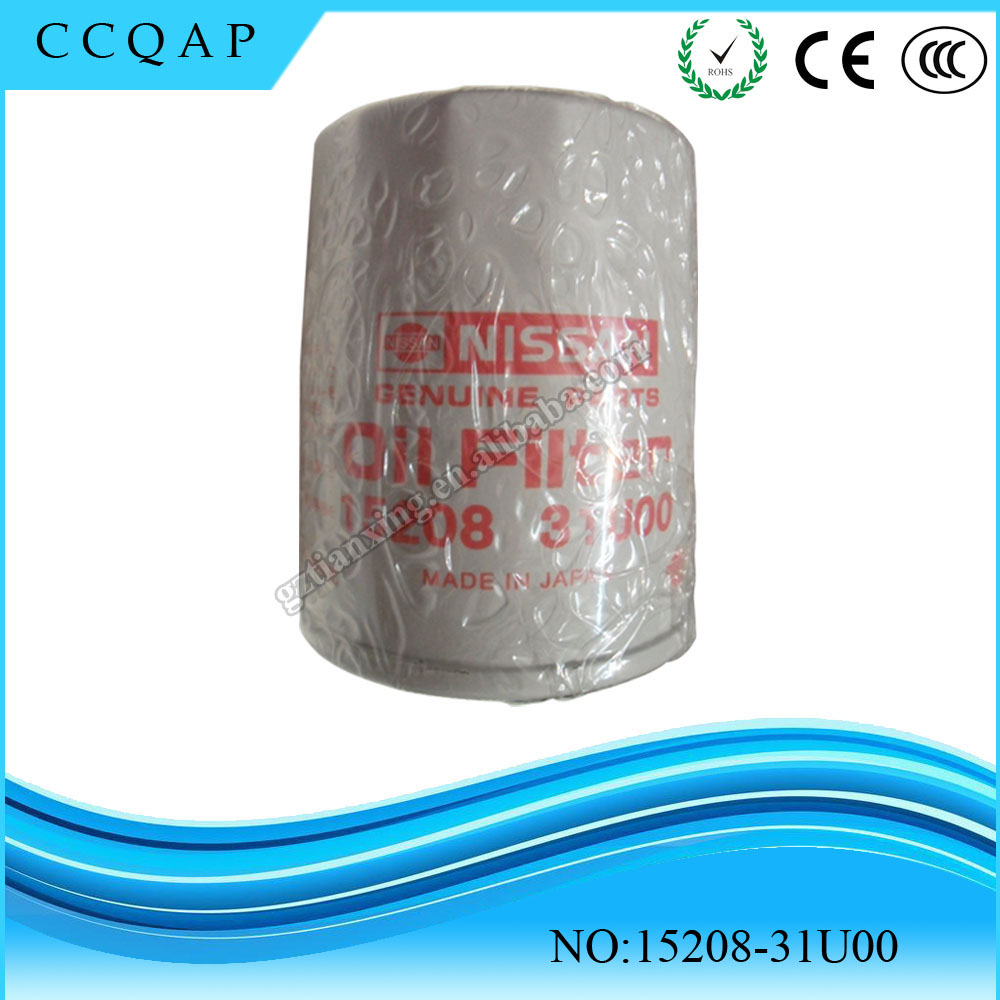 High quality automotive oil filter manufacturers China for car engine oil filter 15208-31U00