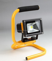 new-design CE SAA IP65 Bridgelux Battery Powered Portable Rechargeable LED flood light for outdoor lighting